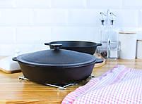 Сковорода чугунная без ручки, ЖАРОВНЯ, 280х60 мм, фото 9