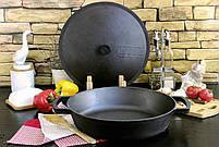 Сковорода чавунна без ручки, ЖАРОВНЯ, 340х70 мм, фото 3