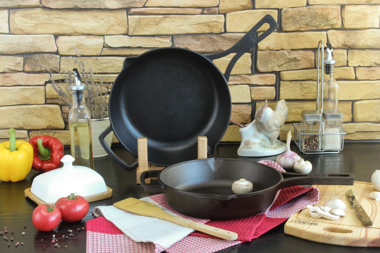 Сковорода чавунна з литою ручкою, 260x60 мм