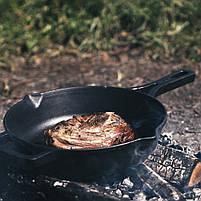 Сковорода чавунна з литою ручкою, 260x60 мм, фото 8