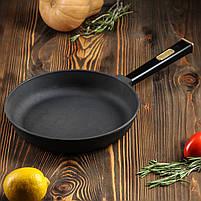 Сковорода чавунна Optima-Black, 200х35 мм, фото 5