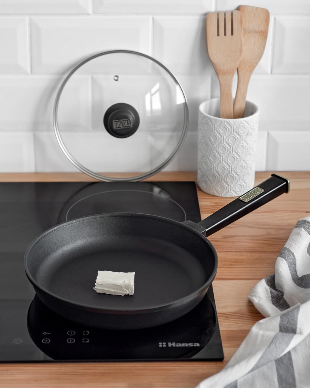 Чугунная сковорода BRIZOLL Optima-Black, 220х40 мм
