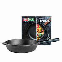 Чугунная сковорода BRIZOLL Optima-Black, 240х60 мм, фото 2