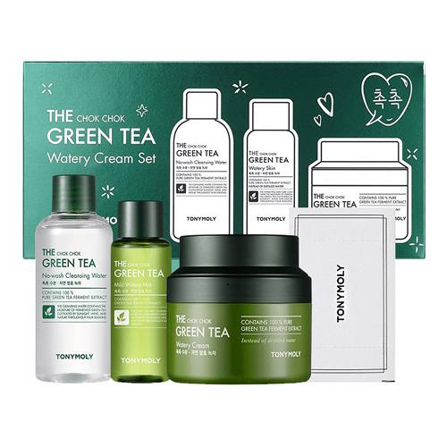 Tony Moly The Chok Chok Green Tea Водянисті Cream Set Подарунковий набір засобів з зеленим чаєм