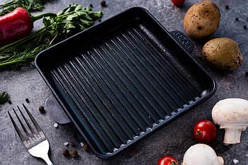HoReCa, Сковорода чугунная квадратная гриль BRIZOLL 180х180х25 мм
