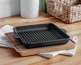 HoReCa, Сковорода чавунна квадратна BRIZOLL з підставкою 180х180х25 мм