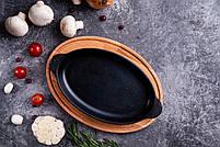 HoReCa, Сковорода чавунна овальна с підставкою BRIZOLL 220х140х25 мм, фото 5