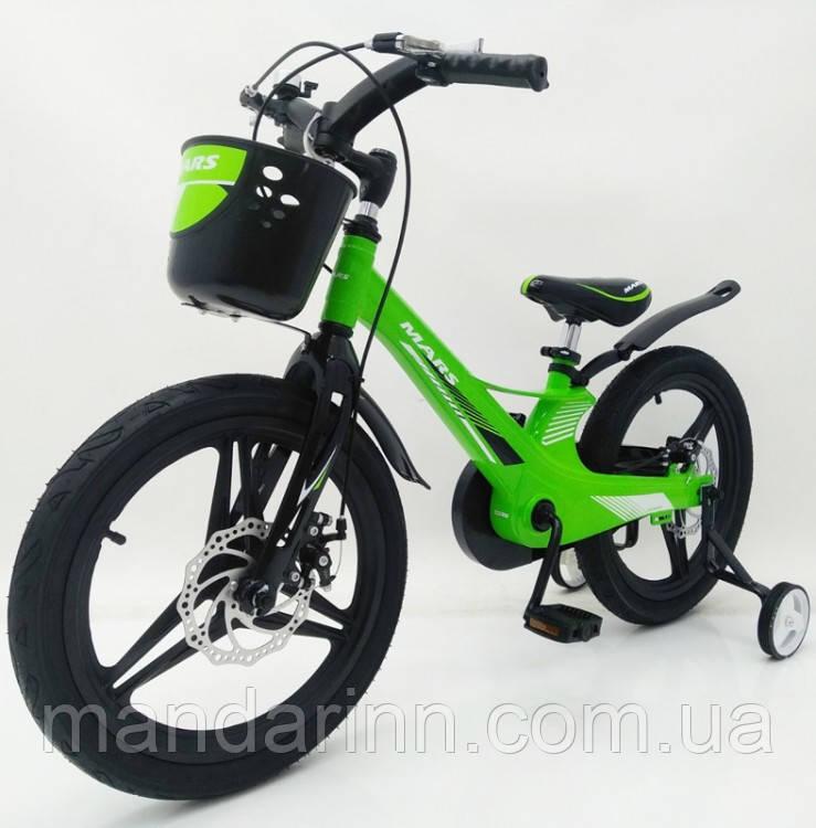 Дитячий Велосипед MARS-2 Evolution» 18дюймов. Суперлегкий. Зелений