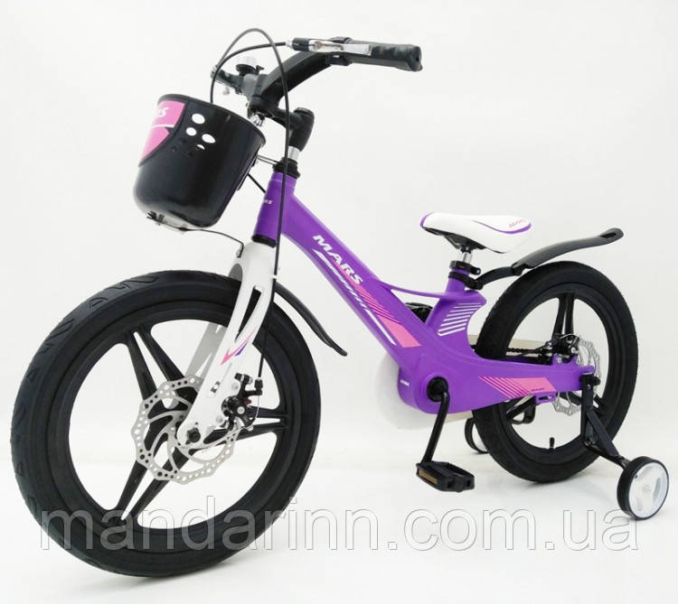 Дитячий Велосипед MARS-2 Evolution» 18дюймов. Суперлегкий. Фіолетовий