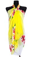 Пляжне шифонове парео Fashion Сільвия 170*110 см жовтий