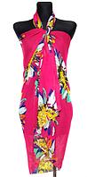 Пляжне шифонове парео Fashion Сільвия 170*110 см малиновий