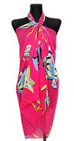 Пляжне шифонове парео Fashion Сільвия  море 170*110 см малиновий