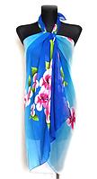 Пляжне шифонове парео Fashion Сільвия 170*110 см синій