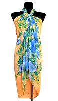 Пляжне шифонове парео Fashion Сільвия 170*110 см персиковий