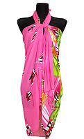 Пляжне шифонове парео Fashion Сільвия море 170*110 см рожевий