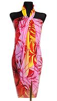 Пляжне шифонове парео Fashion Сільвия 170*110 см рожевий/помаранчевий