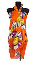 Пляжне шифонове парео Fashion Сільвия 170*110 см помаранчевий