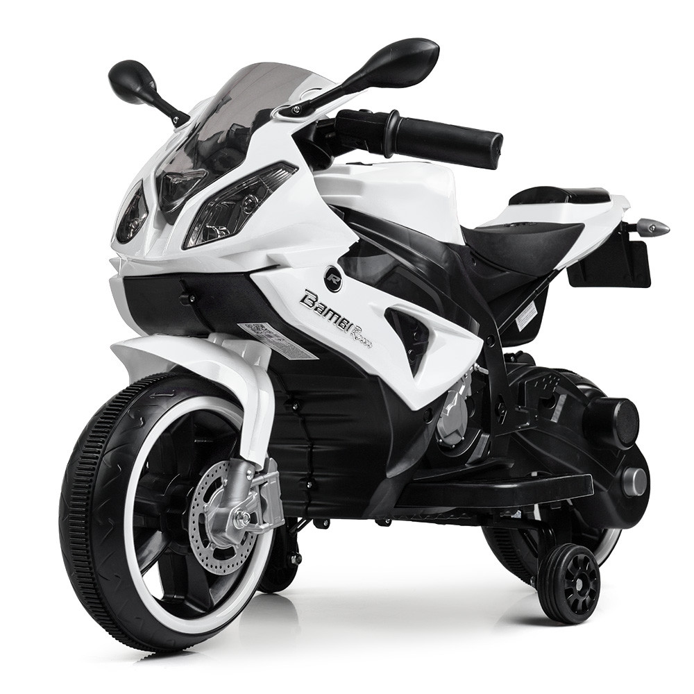 Дитячий мотоцикл M 4103-1 білий 2мотора25W, 2аккум6V5AH