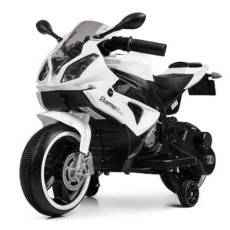 Дитячий мотоцикл M 4103-1 білий 2мотора25W, 2аккум6V5AH, фото 2