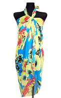 Пляжне шифонове парео Fashion Сільвия 170*110 см блакитний