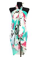 Пляжне шифонове парео Fashion Сільвия 170*110 см бірюзовий