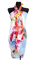 Пляжне шифонове парео Fashion Сільвия 170*110 см блакитний світлий
