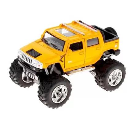 Детская колекционная машинка Kinsmart Hummer KT5326W Желтая