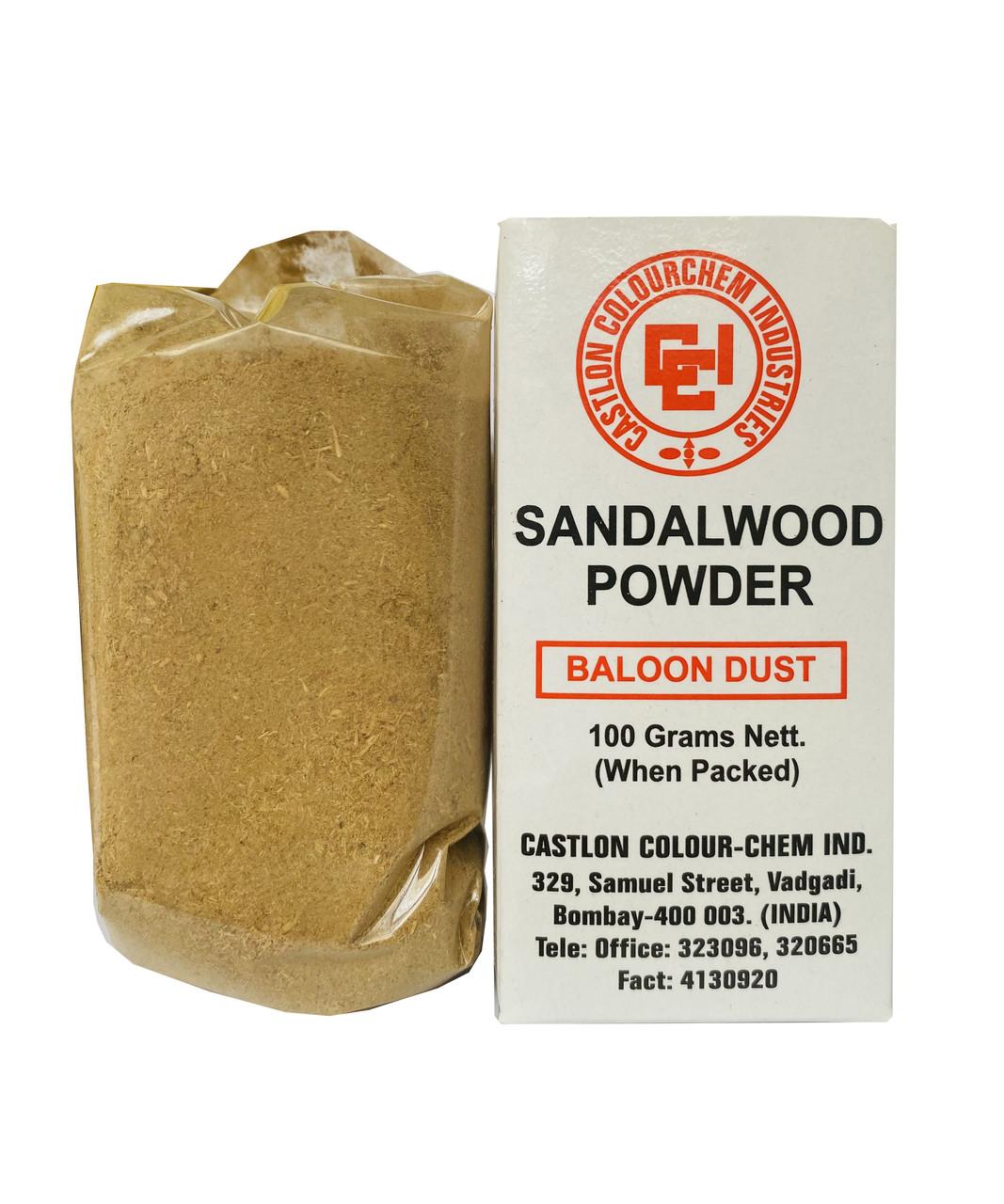 Порошок Сандалу білого Castlon ColourChem Industries sandalwood powder 100 грам