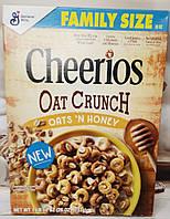 Сухий сніданок Cheerios Oat Crunch хрусткі кільця з вівсом і медом, фото 1