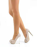 Туфли с открытым носком беж. 40