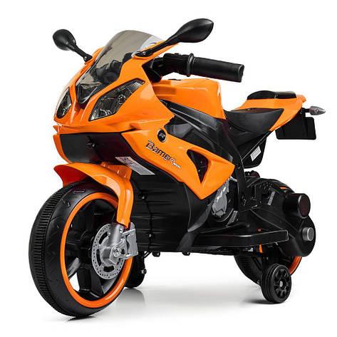 Детский мотоцикл M 4103-7 оранжевый 2мотора25W, 2аккум6V5AH, фото 2