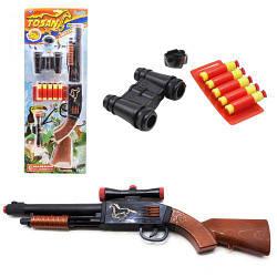 Пистолет-ружье с присосками детское, 5 стрел, Tosan, Оружие с присосками