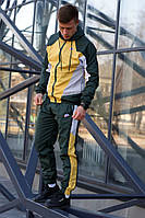 Мужской Спортивный костюм Nike Heritage желто зеленый стильный спортивный костюм