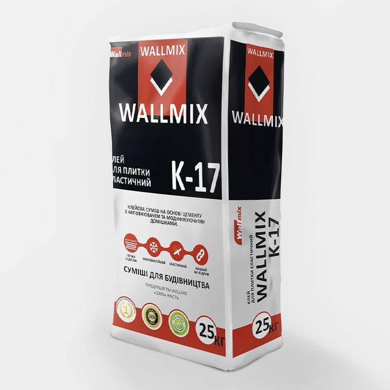 Клей для плитки WALLMIX (Валлмикс) K-17 эластичный (25 кг)
