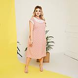 Стильне плаття жіноче Софт Розмір 50 52 54 56 58 В наявності 5 кольорів, фото 2