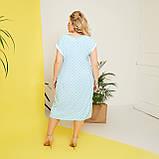 Стильне плаття жіноче Софт Розмір 50 52 54 56 58 В наявності 5 кольорів, фото 6
