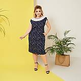 Стильне плаття жіноче Софт Розмір 50 52 54 56 58 В наявності 5 кольорів, фото 8