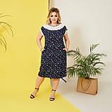 Стильне плаття жіноче Софт Розмір 50 52 54 56 58 В наявності 5 кольорів, фото 7