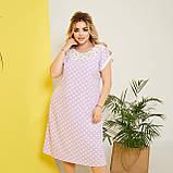Стильне плаття жіноче Софт Розмір 50 52 54 56 58 В наявності 5 кольорів, фото 9