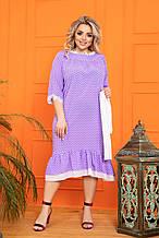 Ошатне плаття жіноче Софт Декорований мереживом Розмір 50 52 54 56 58 60 62 64 Різні кольори