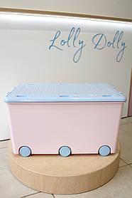Ящик Тега для игрушек Tega Кролики Rabbits KR-010, pink