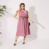 Красивое платье летнее Софт Размер 50 52 54 56 58 60 62 64 В наличии 3 цвета, фото 3