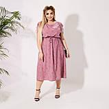 Красивое платье летнее Софт Размер 50 52 54 56 58 60 62 64 В наличии 3 цвета, фото 5