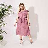 Красивое платье летнее Софт Размер 50 52 54 56 58 60 62 64 В наличии 3 цвета, фото 2