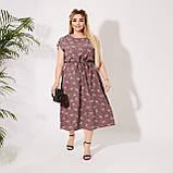Красивое платье летнее Софт Размер 50 52 54 56 58 60 62 64 В наличии 3 цвета, фото 6