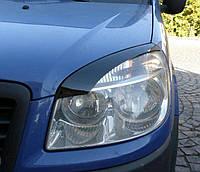 Реснички на фары Fiat Doblo II 2005+ г.в. Фиат Добло, фото 1