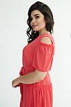 Платье ТМ ALL POSA Люсьена коралл 50 (100691), фото 5