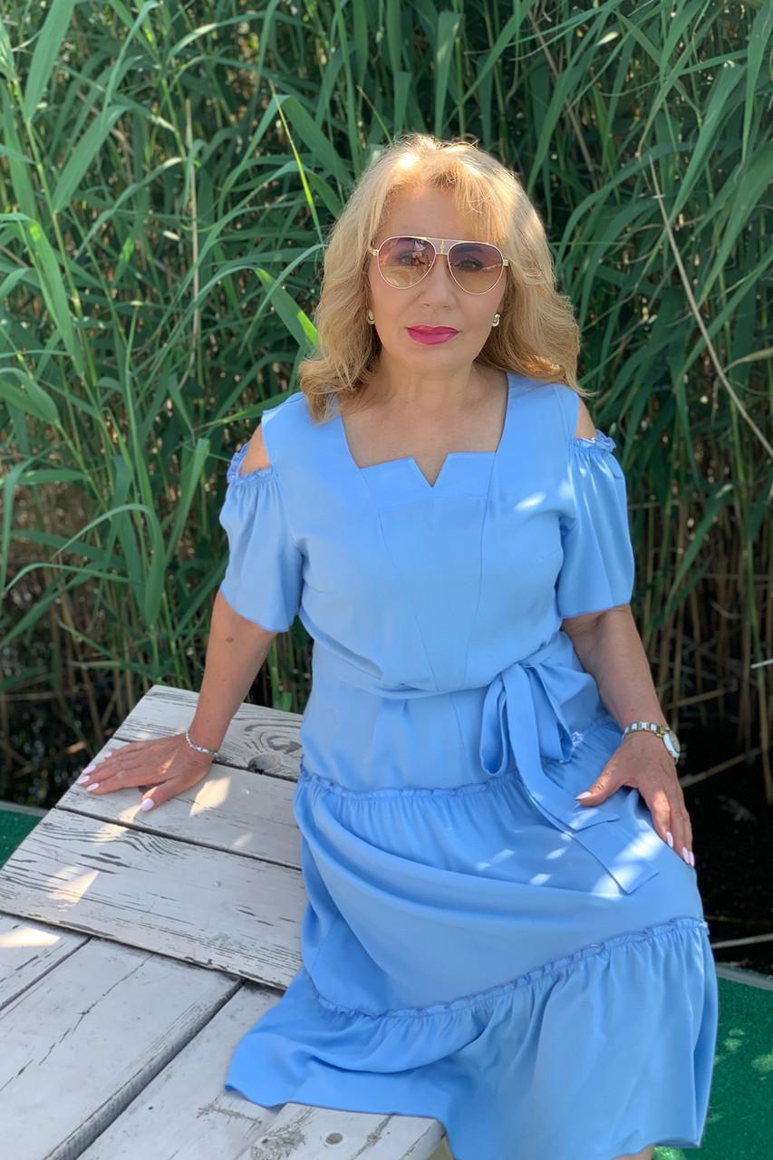 Платье ТМ ALL POSA голубой 50 (100687)