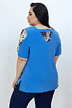 Блузка ТМ ALL POSA Дейзи тёмно-голубой 50 (100680), фото 2