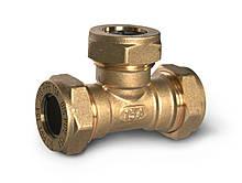 Тройник труба-труба-труба латунный DISPIPE BT15*15*15